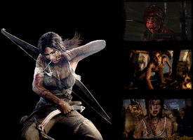 Lara Croft Reborn - Wallpaper by NatlaDahmer