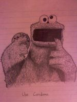 High School Doodlings 3: Cookie Monster by bassistofclosson