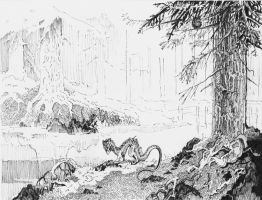 spruce forest by StrogOST