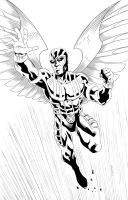 archangel Inking by DracowormArt