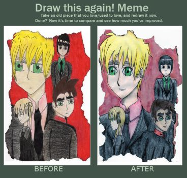 Meme: Before and After by yuraimileebunny