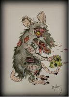 Zombie rat by Mr-Munster-13