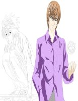 Deathnote Art light yagami and  L work 5 by daylover1313