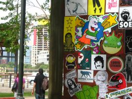 Stickers in Park by Lorfis-Aniu
