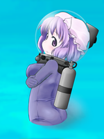 Letty in diving suit (Collage art) by Nekomi4