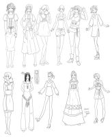 Fashion Design 19 Lineart by TigerBomberX