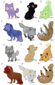 Wolf Pup Adoptables .::OPEN::. by StarryAdopts