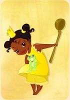 Little Tiana and the frog by MadEye01