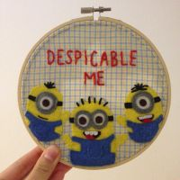 Despicable Me Embroidery Hoop by cloudy-days95