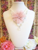Pink Rose Choker by lessthan3chrissy