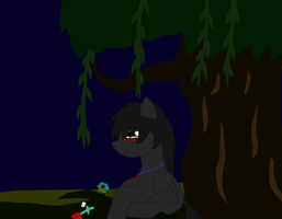 Sad FlightShy in the Everfree Forest by Dan-Shattered-Heart