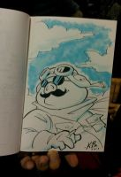 Porco Rosso Sketchbook Drawing by kevinbolk