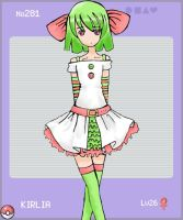 PKMN Gijinka- No281 Kirlia by corn-elder