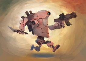 Running Battlebot by zgul-osr1113