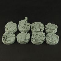Robotic Gear 25mm Round Bases by RistulsMarket