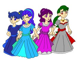 Chibi Senshi, Outer Group by UnseenVision