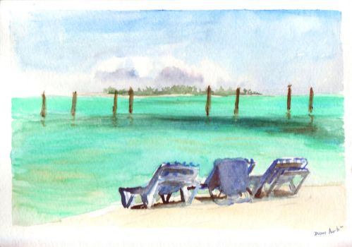 beach chairs by DianeAarts