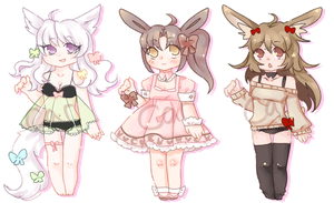 kemonomimi adopt set CLOSED by carcaradopts