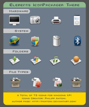 Elements Icons Theme by Knightmare-at-9
