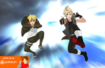 Worlds Collide: Boruto meets Prompto by joeFJ