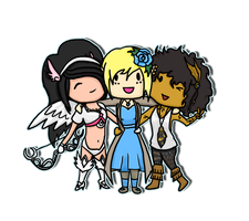 Angel, Estelle, and Ember by GoWaterTribe