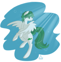 Emerald Wave by Stickaroo