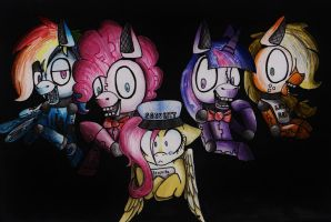 Five Night's at Pinkie's by RandomDeidara