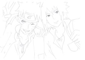 Naruto and Sasuke by kyoyaLove