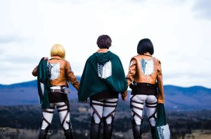 The Trio - Shingeki No Kyojin by denni-cosplay