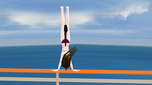 Vaulting over the railing by ThantosEdge