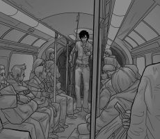 You went on the tube like that? by Sempaiko