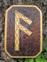 Ansuz Woodburning by EihwazCraftwork