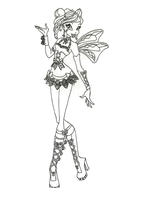 Hallowinx Bloom Coloring page by timefairy237