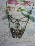 Steampunk butterfly necklace by assassin-kitty