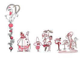 Circus Lineup by dinglehopper