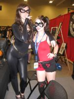 Catwoman and Harley Quinn by Mary-Margret