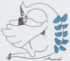 FA: Me and Lugia by Alicetiger