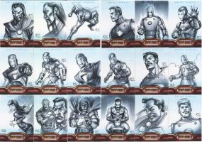 Iron Man 2 sketchcards Set 1 by ronsalas