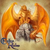 Endless Realms bestiary - Amber Dragon by jocarra