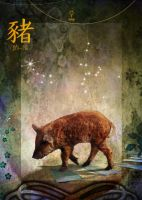 Chinese Zodiac Signs - The Pig by Sarasai