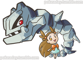 Steelix and Jasmine by Pokeaday
