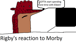 Rigby's reaction to Morby by Creepergamer12