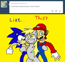 Mario and Sonic return to tumblr! by TJ0001