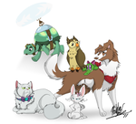 Genderbent MLP Pets by TheCynicalHound