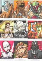 STAR WARS SKETCH CARFS by JUANPUIS