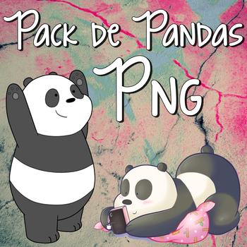 Pack pandas png by livship
