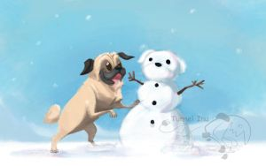 Snowpug by tunnelinu
