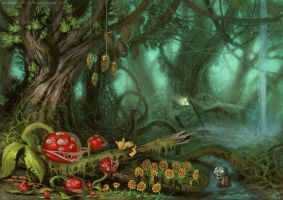 Magic Videogameforest by DefiledVisions