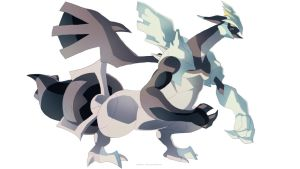Pokemon Black and White 2 - Black Kyurem by moxie2D