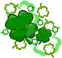 Cute Irish Shamrocks by Nashiil